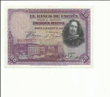 BILLETE 50 PESETAS 1928 - [ 1] …-1931 : Primeros Billetes (Banco De España)