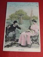 """COUPLES - FANTAISIES -   """" Jolie Cousine """"   -  1910  -  (2 Scans) - Paare"""