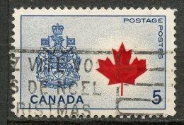 Canada 1966 5 Cent Canada Coat Of Arms Issue #429ai - 1952-.... Règne D'Elizabeth II