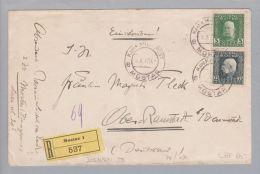 Heimat Bosnien Mostar 1917-10-03 R-Brief Nach Oberramstadt - Bosnie-Herzegovine