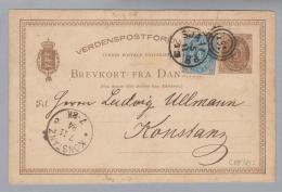 Heimat Dänemark Sjali P.B. #781 3-Kreis GS+Zus.nach Konstanz - Entiers Postaux