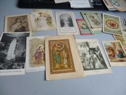 Lot De 65  Images Pieuses De Religion Et Communions  + Cartes Mortuaires - Religion & Esotericism