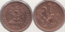 Sud Africa 1 Cent 1974 Km#82 - Used - Sud Africa