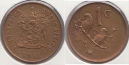 Sud Africa 1 Cent 1981 Km#82 - Used - Sud Africa