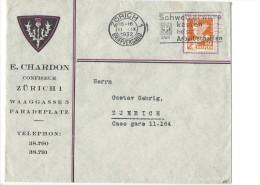 12699 - Lettre E. Chardon Confiseur Zürich Paradeplatz 11.091932 - Suisse