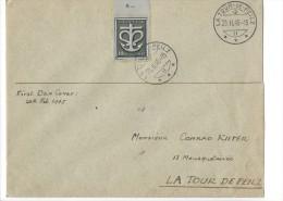12703 - Lettre  La Tour-de-Peilz Conrad Kiefer 20.02.1945 - Covers & Documents