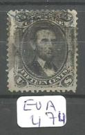 EUA Scott  91 E Grill Fine Blue Cancel 28 A # - Used Stamps