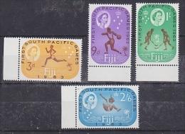 Fiji 1963 First South Pacific Games 4v ** Mnh (22871) - Fiji (1970-...)