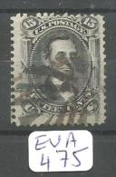 EUA Scott  91 E Grill Black And Red Or Magenta Cancels YT 28 A # - Used Stamps