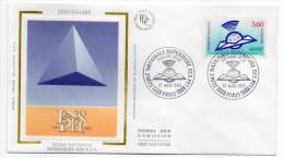 1988--enveloppe FDC Soie--Ecole Supérieure Des PTT--cachet  PARIS - FDC