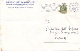 REGIONE MARCHE - 61100 - PESARO - 1980 - LS - FTO 12x18 - TEMA TOPIC COMUNI D´ITALIA - STORIA POSTALE - Affrancature Meccaniche Rosse (EMA)