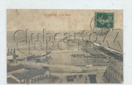 Sète Ou Cette (34) : Vue Générale Aérienne Sur Le Port Du Môle  En 1908 (animé) PF. - Sete (Cette)