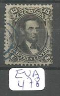 EUA Scott  98 F Grill Blue Cancel Very Good YT 28 A # - Used Stamps