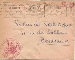 Maroc Marokko Morocco Marruecos Casablanca 1952 Lettre SM Cover Brief Carta - Marruecos (1891-1956)