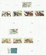 Tchécoslovaquie N°2853, 2855 à 2858, 2861, 2863 à 2865, 2867 Cote 3.60 Euros - Czechoslovakia