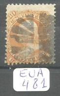 EUA Scott 100 With Grill Very Good YT 25a # - Used Stamps
