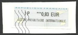 France, Franking Label M # 33, Used. - 2000 «Avions En Papier»