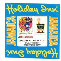 ETIQUETA DE HOTEL  -   HOLIDAY INN  -JAMAICA - Hotel Labels