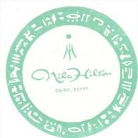 ETIQUETA DE HOTEL  -   NILE HILTON  - CAIRO  - EGYPT - Hotel Labels