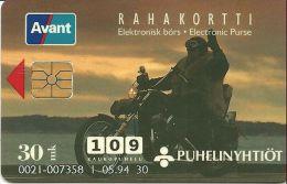 FINLANDE FINLAND SUOMI TELECARTE PHONECARD BIKER MOTO MOTOCYCLISTE