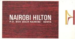 ETIQUETA DE HOTEL  -  NAIROBI HILTON  -NAIROBI -KENYA - Etiquetas De Hotel