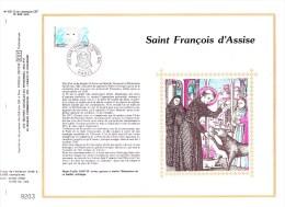 2198 (Yvert) Sur Feuillet 621 S Du Catalogue CEF (442 / Soie) - Saint-François D'Assise - France 1982 - FDC