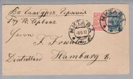 Heimat EU Lettland Jelgava (Mitau) 1912-06-12 Brief Nach Hamburg - Lettonie