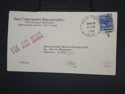 ETATS-UNIS - Perforé Sur Enveloppe Commerciale De New York Pour Toulouse En 1941 - à Voir - Lot P7866 - Perforados