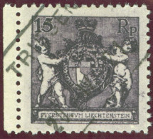 Heimat Liechtenstein Triesen 1921-04-20 Aushilfsstempel Auf Zu#52A Mi#52B Gezähnt 12.5 - Liechtenstein