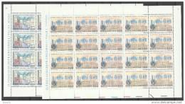 1987 Vaticano Vatican MUSEO FILATELICO  PHILATELIC MUSEUM 20 Serie Di 2v. In Foglio MNH** Sheet - Nuovi