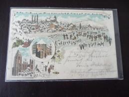 1 X Alte AK Gruss Aus Wetzlar Winterlitho 1902 Hessen  Sammlungsauflösung - Wetzlar