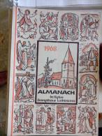 EN ALLEMAND 1968 ALMANACH DE L' EGLISE EVANGELIQUE LUTHERIENNE Succède Aux Almanachs De Strasbourg KEMPF OBERLIN ALSACE - Christianisme