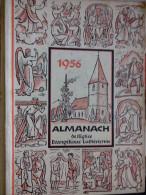 EN ALLEMAND 1956 ALMANACH DE L' EGLISE EVANGELIQUE LUTHERIENNE Succède Aux Almanachs De Strasbourg KEMPF OBERLIN ALSACE - Christianisme
