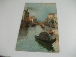 PITTORICA  ILLUSTRATORE VENEZIA GONDOLA CANALE MINORE - Venezia