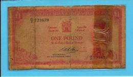 RHODESIA - 1 Pound -  04. 09.1964 - Pick 25 -  RRRRRRRRRR - Queen Elizabeth II - 2 Scans - Rhodésie