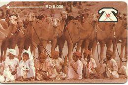 OMAN TELECARTE PHONECARD RO 6.00  CHAMEAUX CHAMEAU  HOLOGRAPHIQUE - Oman