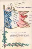 MILITARIA ( REGIMENT ) : 127 EME REGIMENT D'INFANTERIE ... Mon Drapeau ... Jolie CPA Colorisée - - Regimientos