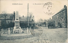 SORBAIS. LE MONUMENT ET LA RUE DE L' EGLISE - France