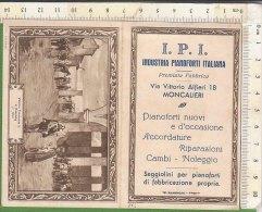 PO2249D# CALENDARIO 1933 ILLUSTRATO ALDI - VITTORIO EMANUELE - I.P.I.INDUSTRIA PIANOFORTI IT. -MONCALIERI Tip. Ramondini - Calendari