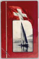 50991073 - Segelboote, Segeln Barque Du Leman , Flagge - Non Classés