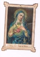 Chromo - Tres Saint Coeur De Marie - Dorures ---- Lebel - Religion & Esotericism