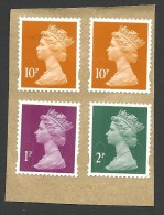 Great Britain, 4 Stamps, Used. - Machins