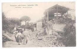 AB028     Vibo Valentia - Piscopio Entrata Del Paese - Terremoto Nelle Calabrie 1905 - Vibo Valentia
