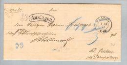 Heimat Polen Flatow Zlotow 1874-12-01 NY-Brief Nach Kl.Lutau - Covers & Documents