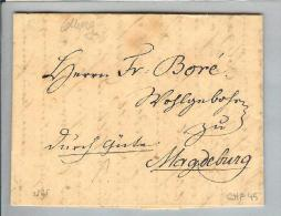 Heimat Polen Colberg 1824-01-10 Brief Nach Magdeburg - Pologne