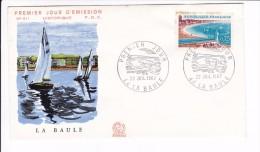 Enveloppe Premier Jour 1er FDC La Baule N° 611 1967 (tachée) - 1960-1969