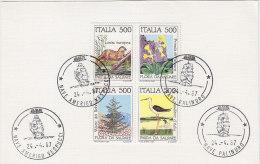 PGL BQ112 - ITALIA SASSONE N°1720/23 CARTONCINO CON ANNULLI NAVALI - 6. 1946-.. Repubblica