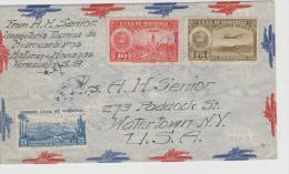 Ven074/ Brief (cover) Flugpost In Die USA 1939 - Venezuela