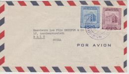 Ven073/ Brief (cover)  Hauptpostamt In Caracas 1955 In  Die Schweiz - Venezuela