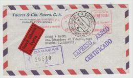 Ven072/  VENEZUELA - Brief (cover)  Luftpost/ Express Einschreiben 1958 , CaracS NACH HAMBURG - Venezuela